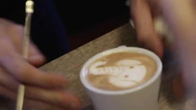 超萌动物咖啡拉花,看着就舍不得喝