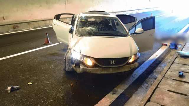 他驾车失控撞隧道,岳母被甩出身亡