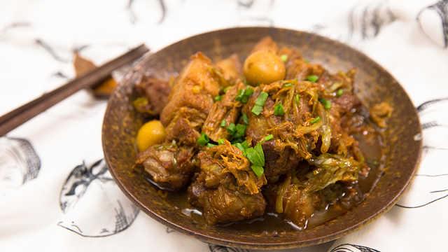 腐竹炖肉,简单又下饭!