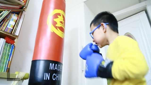 7岁小男子汉练散打,每天出拳近万次