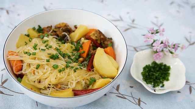 韩式安东炖鸡,鲜辣软糯