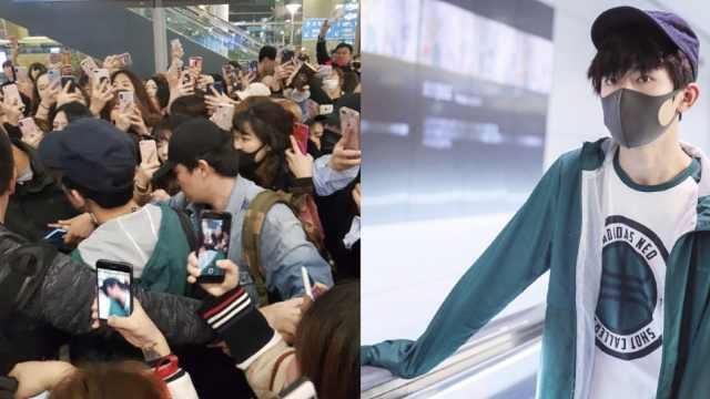 千玺抵韩国,韩媒:令机场瘫痪的人气