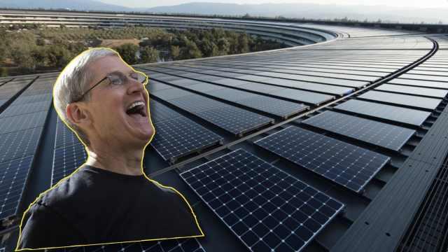 苹果宣布100%实现可再生能源供电