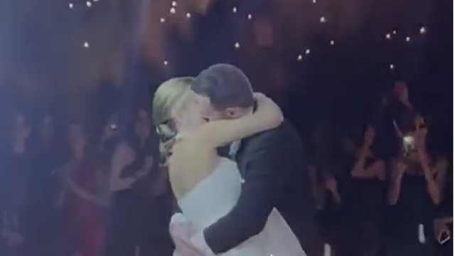 婚礼新人浪漫起舞,放烟花变火灾!