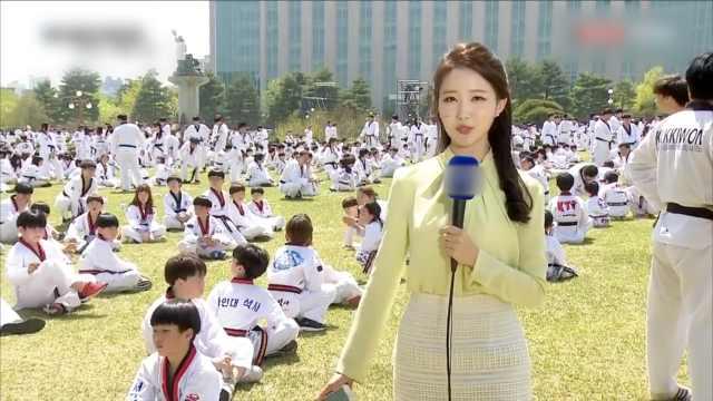 吉尼斯纪录!韩国近万人齐练跆拳道