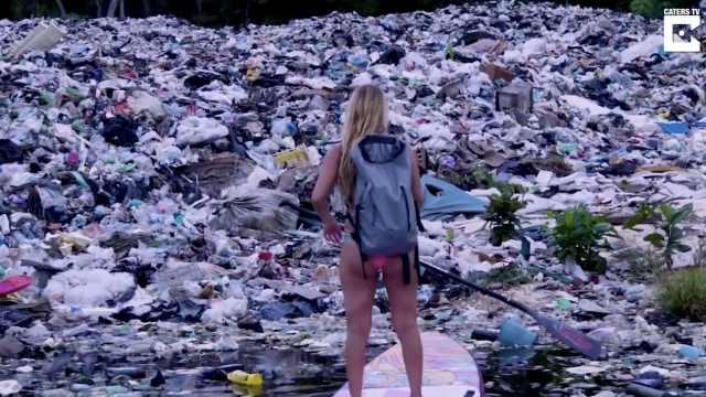触目惊心!海洋塑料垃圾堆积成山