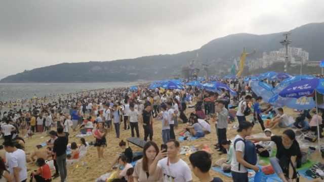 五一海滩打开方式:看人海,