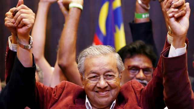 马来西亚选举结果:92岁马哈蒂尔胜