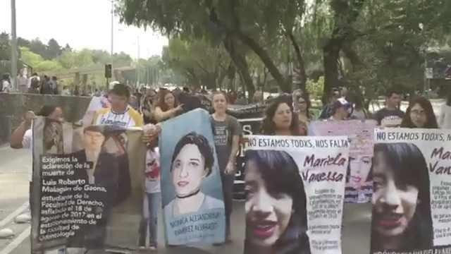 墨西哥女大学生失踪,亲友校内示威
