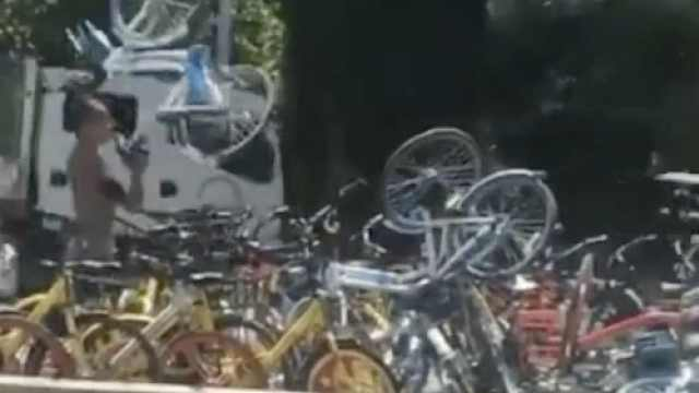 男子街头摔哈罗单车,竟是ofo员工