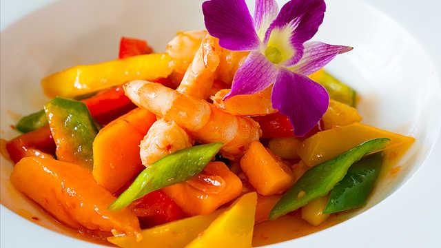 东南亚鲜虾沙拉,美味减脂餐