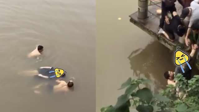 生死营救!女子落水,两路人跳河救起