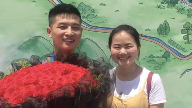 小伙跑完马拉松求婚女友:异地恋8年