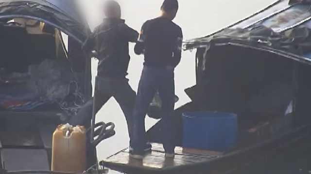 4男跨省到重庆扫荡式电鱼,捞完就跑