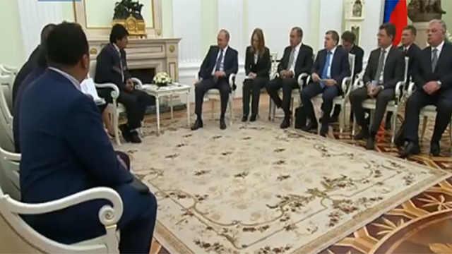 世界杯外交:普京接见各国访俄元首