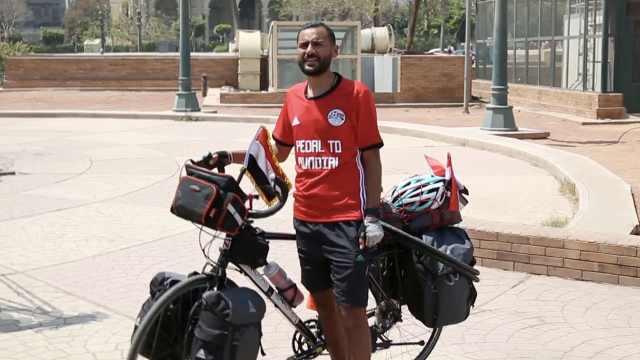 5000公里!埃及哥骑行65天看世界杯