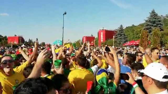阿根廷被逼平,巴西球迷疯狂庆祝