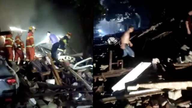 湖南山体滑坡致7栋民房倒塌,困12人