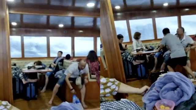 普吉游船沉没前画面:巨浪高过船体