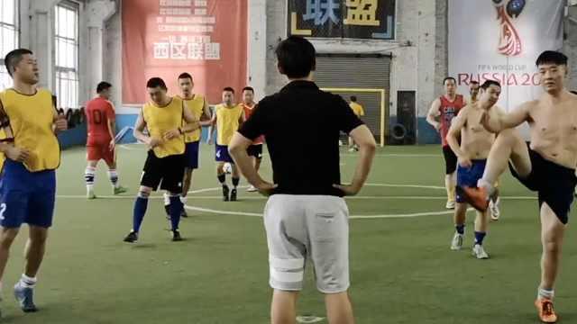 他们踢球静悄悄,为拿冠军自费训练