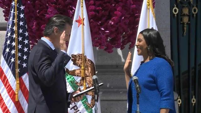 美国旧金山迎来第一位黑人女市长