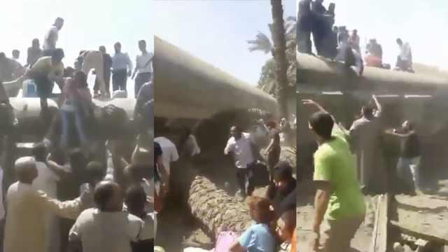埃及火车车厢脱轨,至少55人受伤