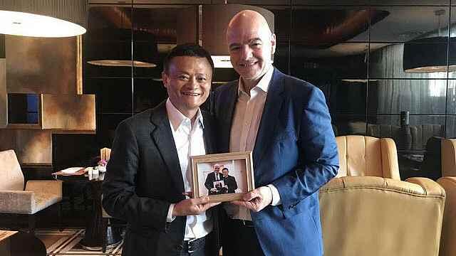 马云会见FIFA主席,世俱杯有望来华!