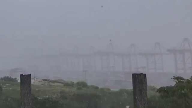 台风安比将至,浙江嵊泗开始降雨