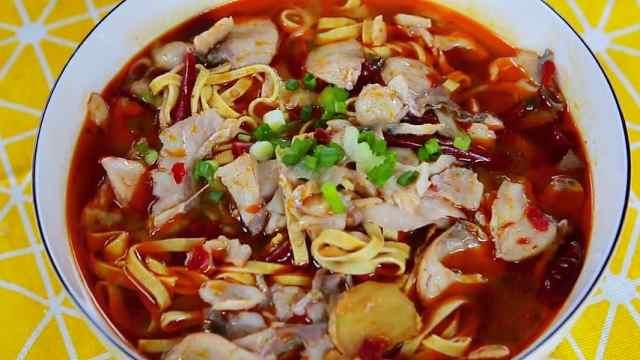 鲜香麻辣的川菜:水煮鱼片