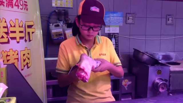21岁女学生暑期卖猪肉:老是想洗手