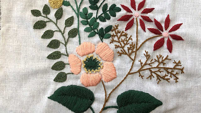 小森式北欧刺绣花朵