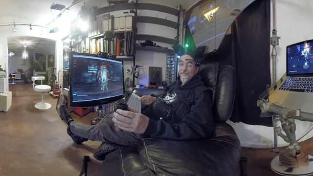 科幻!他借助VR研发赛博朋克艺术