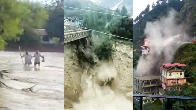 可怕!实拍印度暴雨泥石流山体滑坡