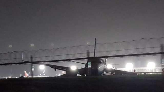 遇恶劣天气,厦航飞机降落偏出跑道