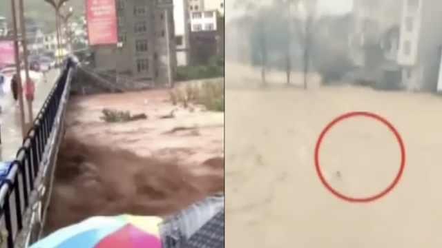 救命绳拉起8人,救人者被洪水卷走