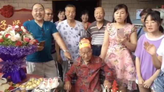 热闹!百岁老人庆生,全村人齐祝贺