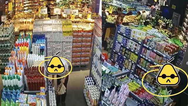 3男超市行窃,狂拿生活用品和零食