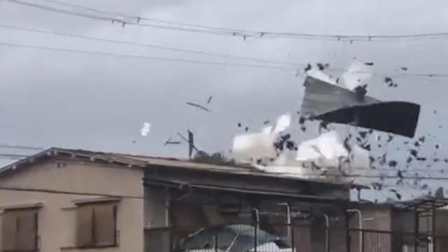 台风致日本6死,关西25万家庭断电