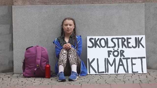 15岁瑞典女孩为环境,静坐抗议两周