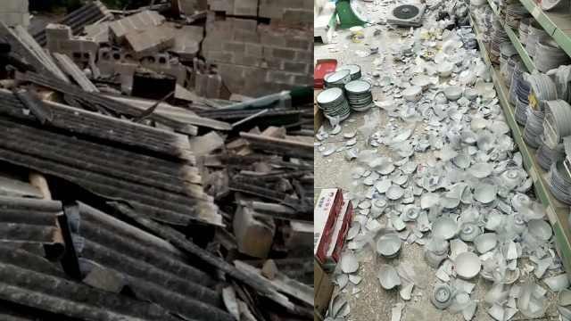 云南墨江5.9级地震,超市碗碎一地