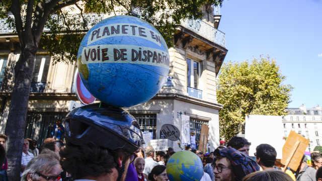 蜜蜂消失!数万人巴黎抗议气候变化