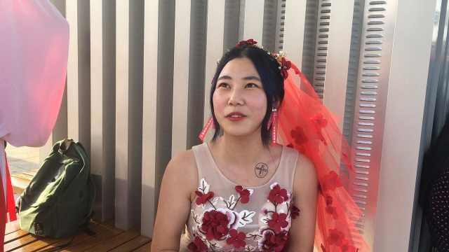 华晨宇鸟巢演唱会,粉丝穿婚纱参加