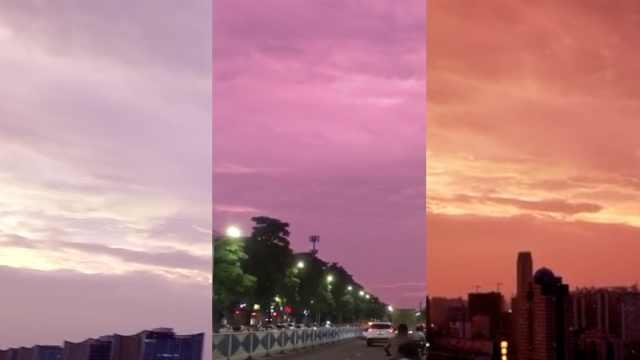 广西天空全变紫,市民:颜色像山竹