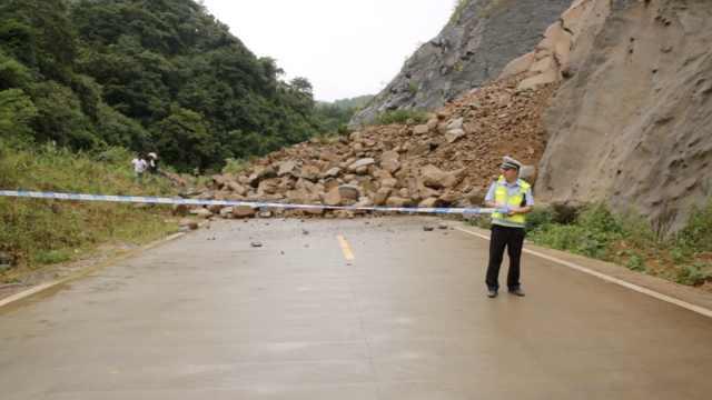 台风引连续降雨,半边山瞬间垮下来