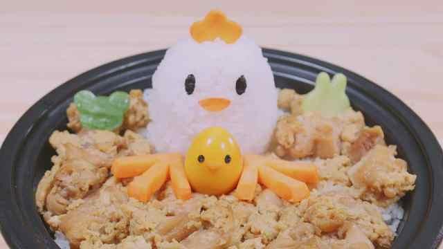 有鸡有蛋的亲子丼料理