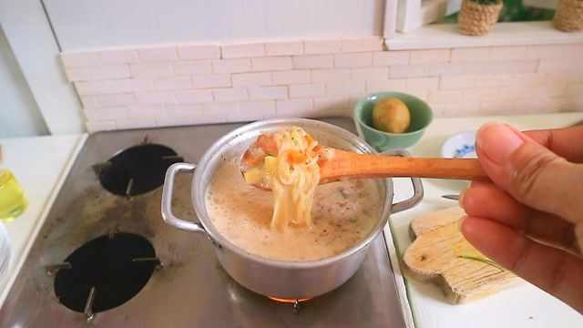 迷你厨房做喷香鸡肉汤面,萌爆了!