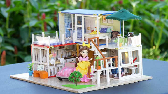 迷你娃娃屋,集装箱组合的温馨小屋