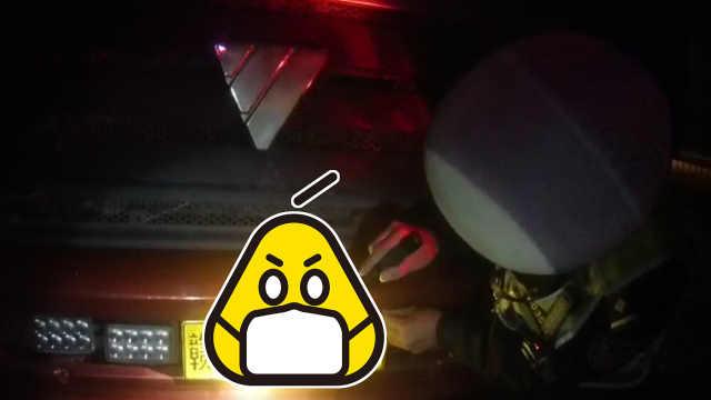 货车暗藏机关,司机可控制牌照