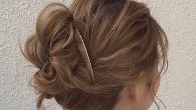 非常方便的编发:辫子丸子头