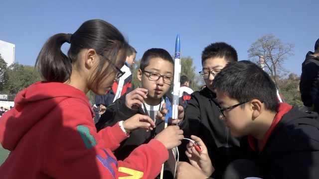 中学生制作神鹰火箭,可飞行500米